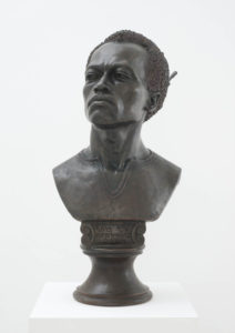 Kehinde Wiley, Likunt Daniel Ailin (The World Stage: Israel), 2013, bronze, Museum Purchase: Funds provided by patrons of 2014 New for the Wall, © Courtesy of the artist and Roberts & Tilton, Culver City, California, 2014.125.1